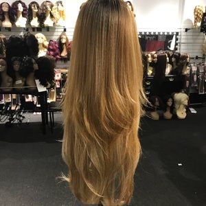Accessories - Wig human hair Blende Blonde ombré Long new wig